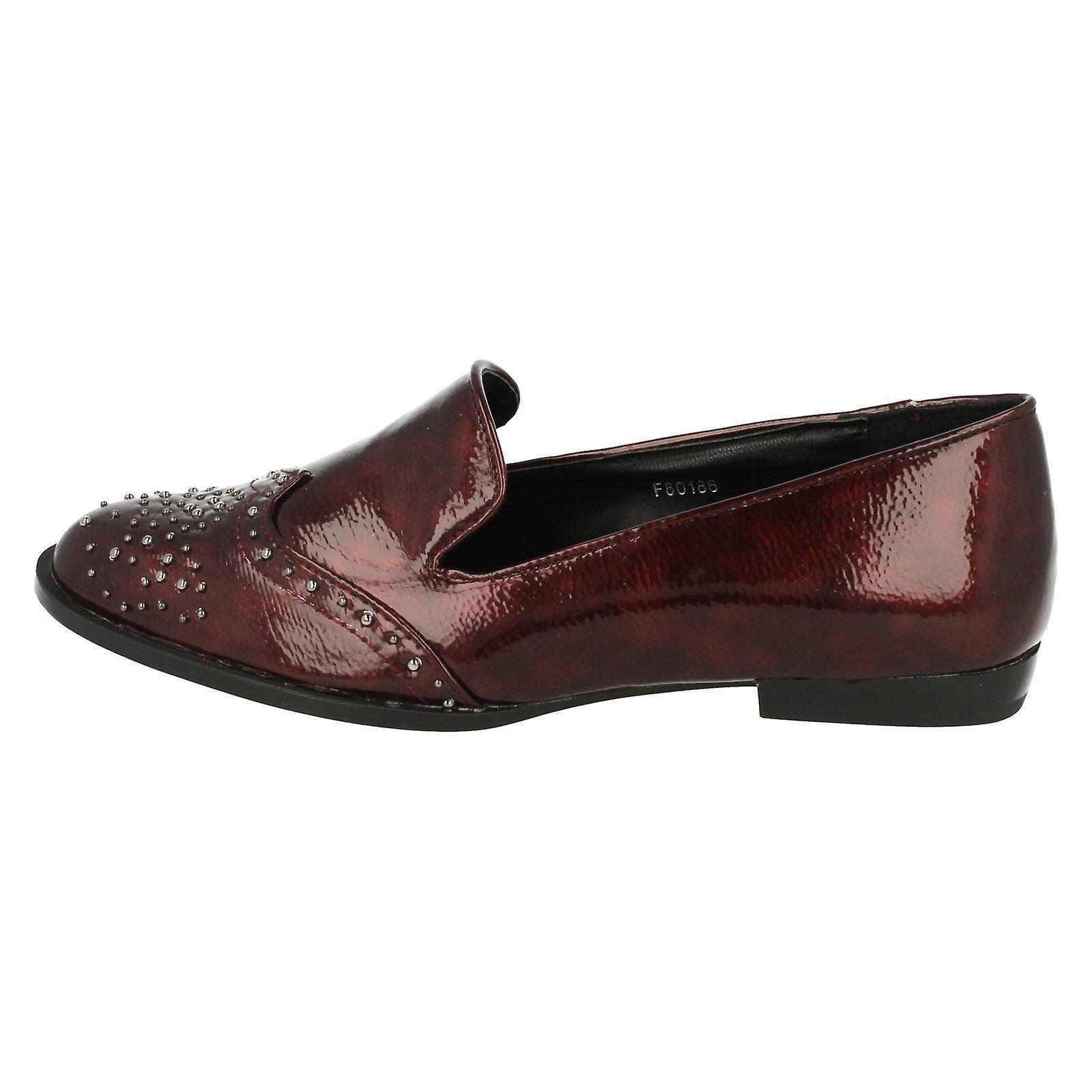 Ladies Spot On Loafer Style Shoe F80186