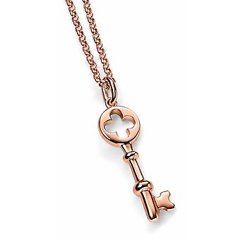 925 Silver Gold Plated Key Necklace