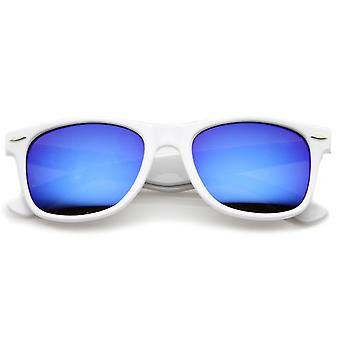 Horn Rimmed Color Mirrored Sunglasses