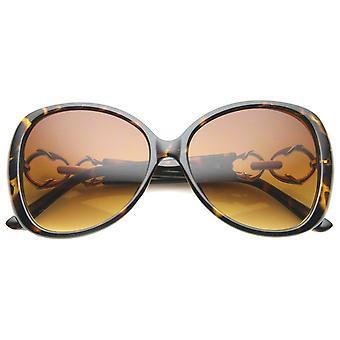 レディース バタフライ サングラス UV400 保護グラデーション レンズ