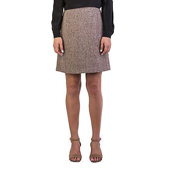 Miu Miu Women's Virgin Wool Tweed Skirt Brown