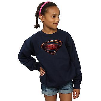 DC Comics filles Justice League film Superman emblème Sweatshirt