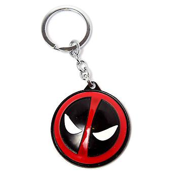 Deadpool Keyring Keychain 3D Metal Spinning Head new Official Marvel
