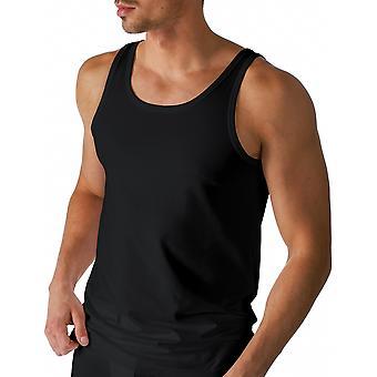 Mey 46100-123 mannen droog katoen zwart effen kleur Tank Vest Top