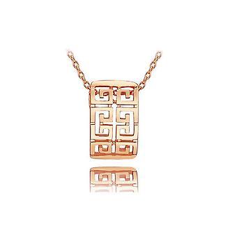 Rose kultaa naisten kaulakoru Roman Modern Design