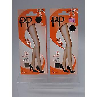 Pretty Polly Knee Highs One Size 15 Denier