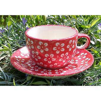 Csésze csészealj, Bunzlau piros, BSN m-4239