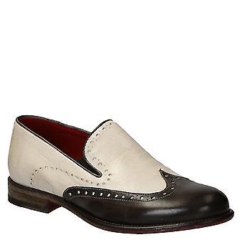 اثنين للرجال اليدوية لهجة المتسكعون wingtip إصبع القدم أحذية