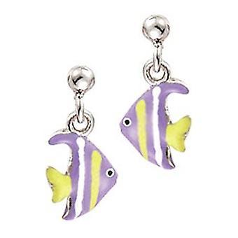 Scout kinderen oorbellen oor cutter zilveren vis paars geel meisje 262118100