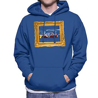 BMW Art Car Calder Gold Frame Men's Hooded Sweatshirt