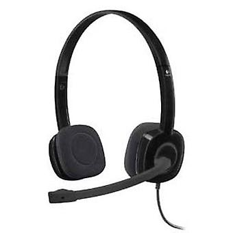 PC headset 3.5 mm jack Corded, Stereo Logitech H151 On-ear Black