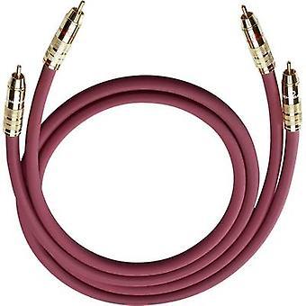 RCA audio/phono kabel [2x RCA plug (phono)-2x RCA plug (phono)] 0,70 m antraciet vergulde connectors Oehlbach NF 214 Master