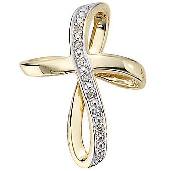 Ciondolo DUNJA Kreuz oro 585 brillante ct 0,03