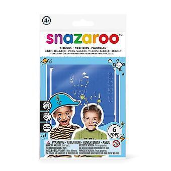 Snazaroo SZ1198011 avventura Face Paint stencil - Set di 6