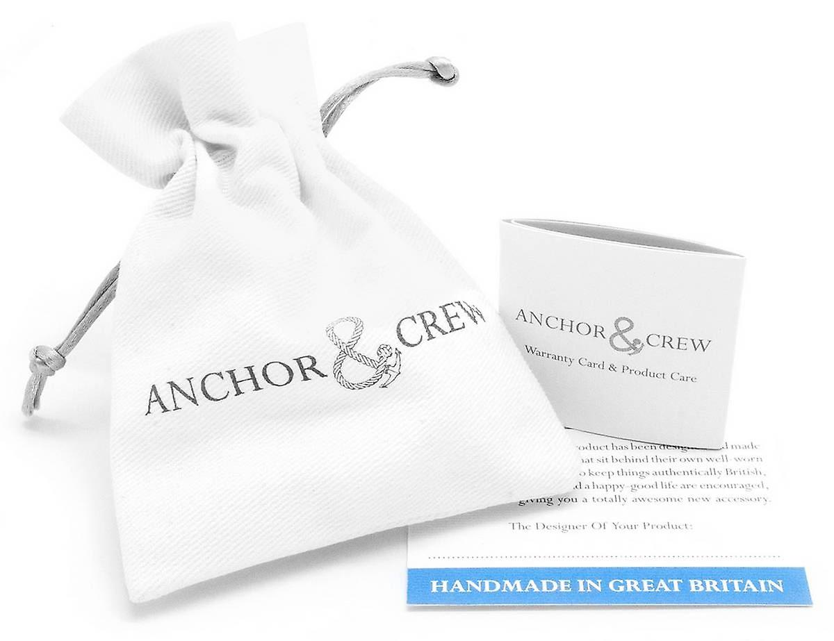 Anchor and Crew Trent Silver and Rope Bangle - Red/White/Blue