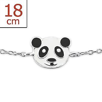 Panda - 925 Sterling Silber + Epoxy Farbe Armbänder - W23468X