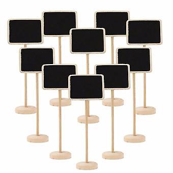 TRIXES 10PCS retângulo tabela Chalkboards em esteiras de tabela decorativo rústico de Stand