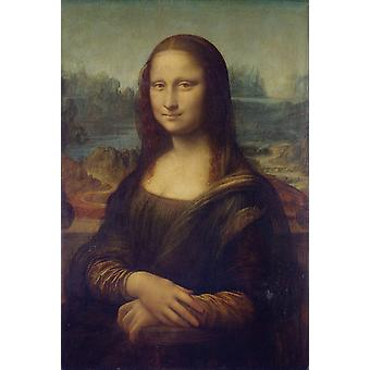 Retrato de Mona Lisa, La Gioconda, Leonardo Da Vinci, 77x53cm