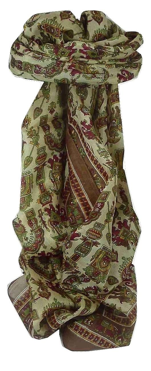 Mulberry Silk Traditional Long Scarf Tezpur Brown by Pashmina & Silk