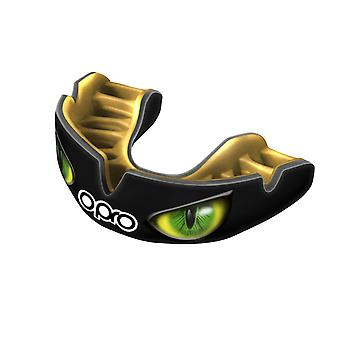 Opro Power Fit aggressione occhi bocca guardia nero/oro/verde