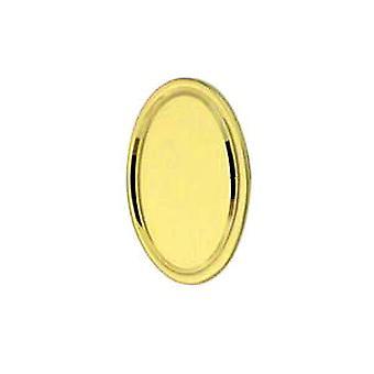 18ct fehérarany arany 13x8mm ovális motor esztergált vonal szegély nyakkendő tack