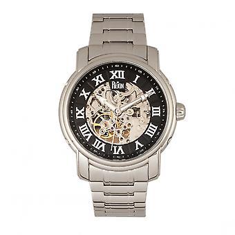 Reign Kahn Automatic Skeleton Bracelet Watch - Silver/Black