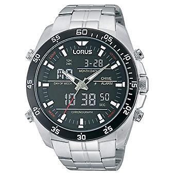 Analoog-digitaal horloge Lorus kwarts mannen met stainless steel band RW611AX9