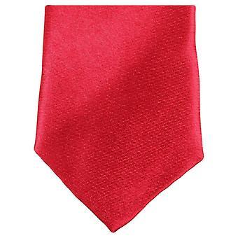 Gravata de poliéster magro Neckwear Knightsbridge - vermelho