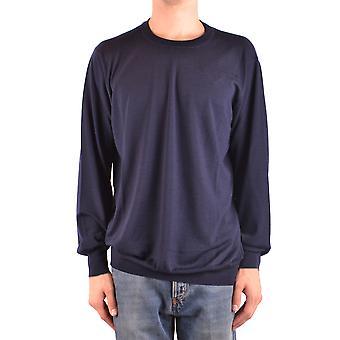 Brunello Cucinelli Ezbc002081 Men's Blue Wool Sweater