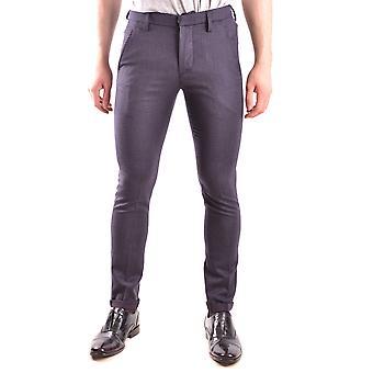 Dondup Ezbc051043 Men's Blue Wool Pants