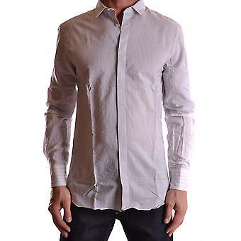 Neil Barrett Ezbc058018 Men's Grey Cotton Shirt