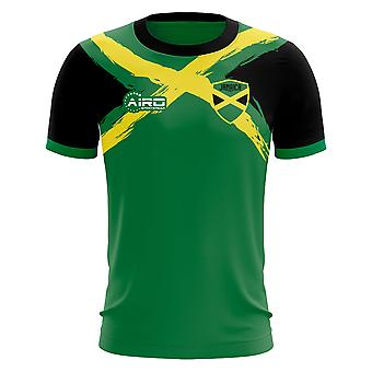2019-2020 Jamaika Flagge Konzept Fußballtrikot
