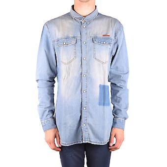 Frankie Morello Ezbc167004 Men's Light Blue Denim Shirt