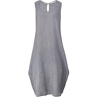 Vestido de Crepe sin mangas de lino Italia de arándano