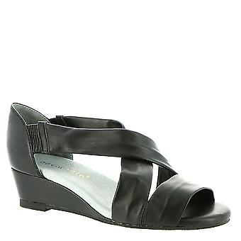 David Tate Womens Swell Leather Open Toe Casual Slide Sandals