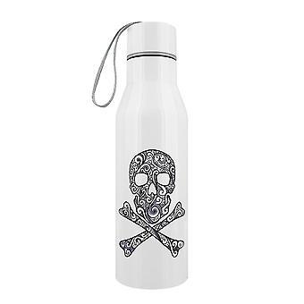 Grindstore Graphic Skull & Crossbones Stainless Steel Water Bottle