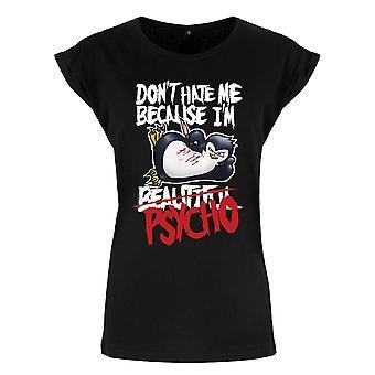 Psycho Penguin Ladies/Womens Don`t Hate Me Premium T-Shirt