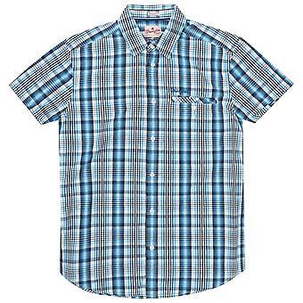 Wrangler Western check camisa, azul