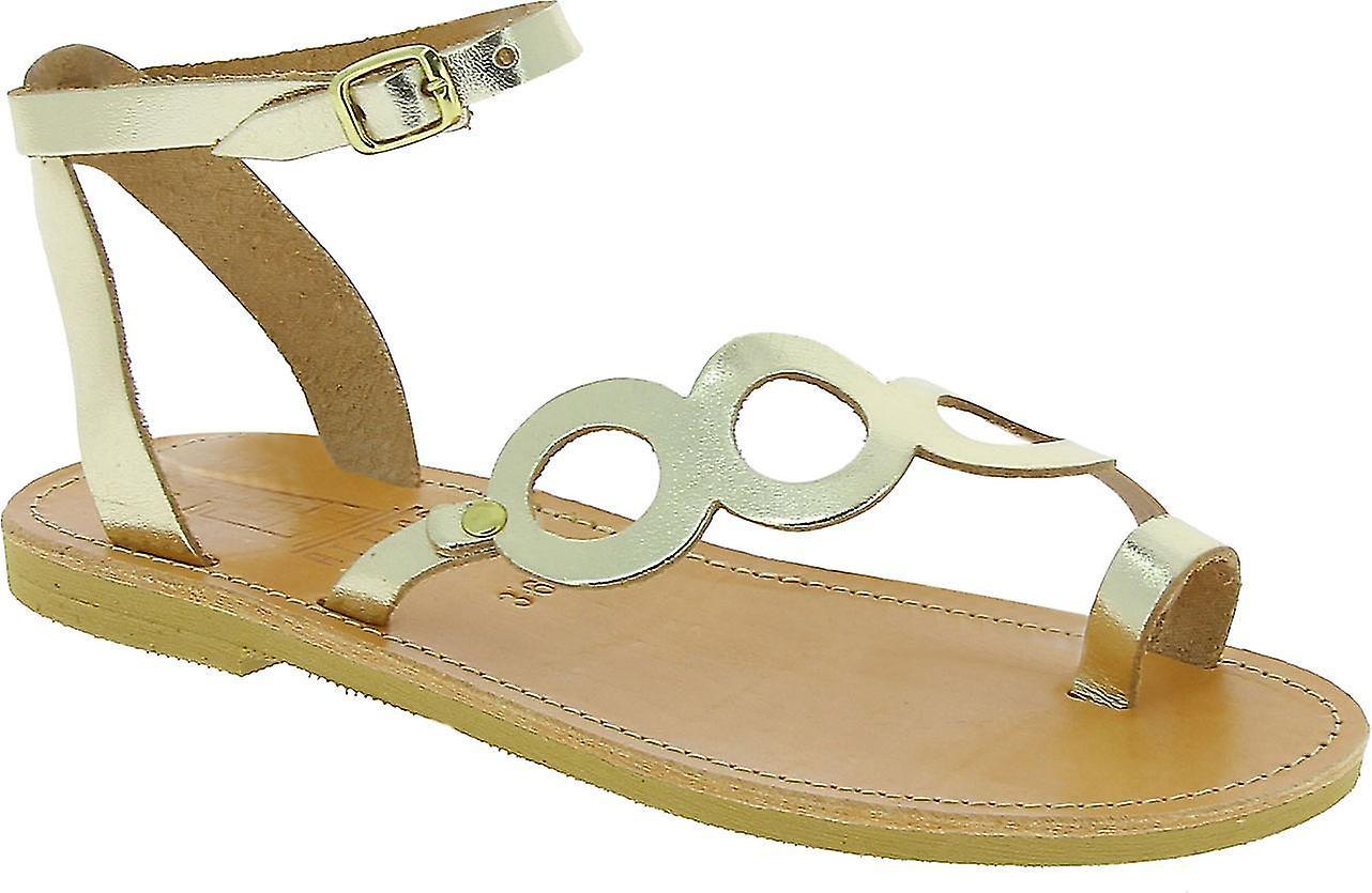 Attica Sandals 50 Women's Gold Leather Flip Flops