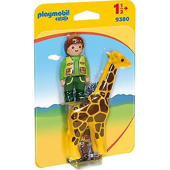 Playmobil 9380 1.2.3 Zookeeper with Giraffe