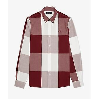 Fred Perry Men's Magnified Gingham Long Sleeve Shirt - M6396-122