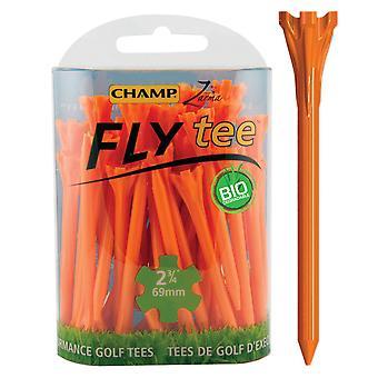 Champ Fly Tee Golf Tee 69 mm 2 3/4 pouce Orange