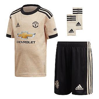 adidas Manchester United 2019/20 Kids Junior Mini Away Football Kit Biancheria