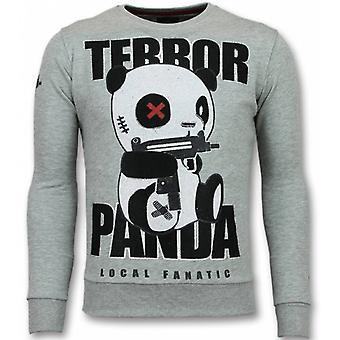 Panda Maglione - Terrore Maglione - Maglione - Grigio