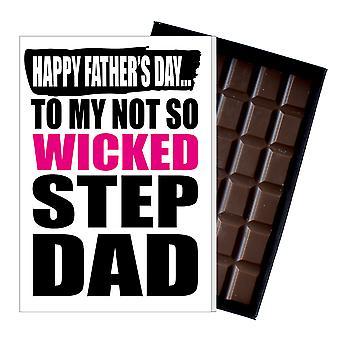 Śmieszne krok tata ojciec ' s dzień prezent głupia czekolada obecny rude karta DADIYF104