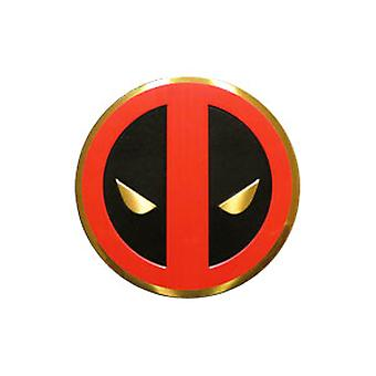 Sticker - Marvel - Deadpool - Icon on Gold Metal 3cm New Toys s-mvl-0031-m