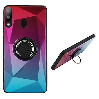 Samsung A20 and A30 Ring Holder Case Pink Blue - BackCover Ring / Magnet Aurora