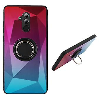 Bagcover ring/magnet Aurora Huawei Mate 20 Lite pink + blå