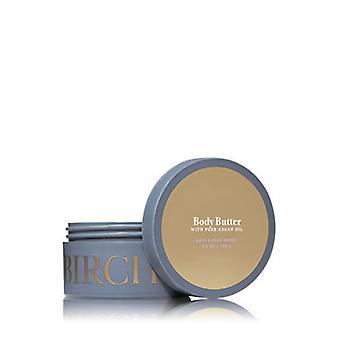 (2 Pacote) Banho e corpo funciona bétula e argan manteiga corporal 6.5 oz/185 g