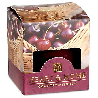 Sweet Black Cherries Heart and Home Votive Candle